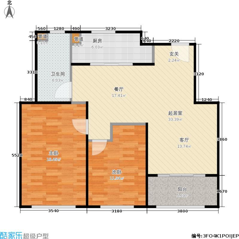 贝尚湾88.00㎡二期A-3户型1室1厅