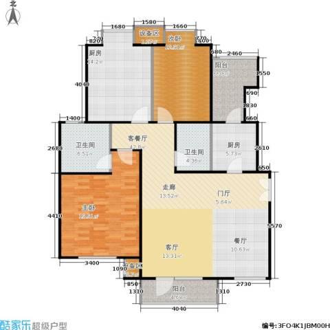 霞飞路63里弄2室1厅2卫2厨126.00㎡户型图