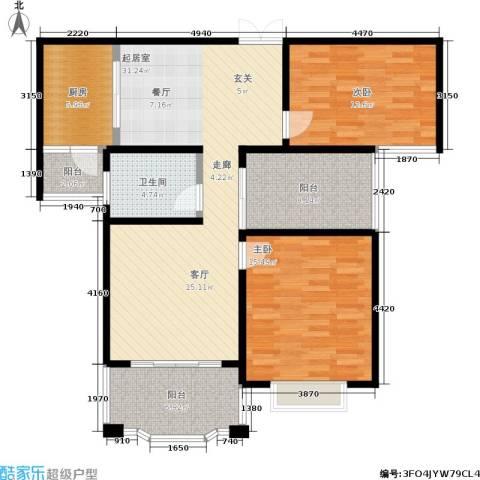瑞景国际2室0厅1卫1厨99.00㎡户型图