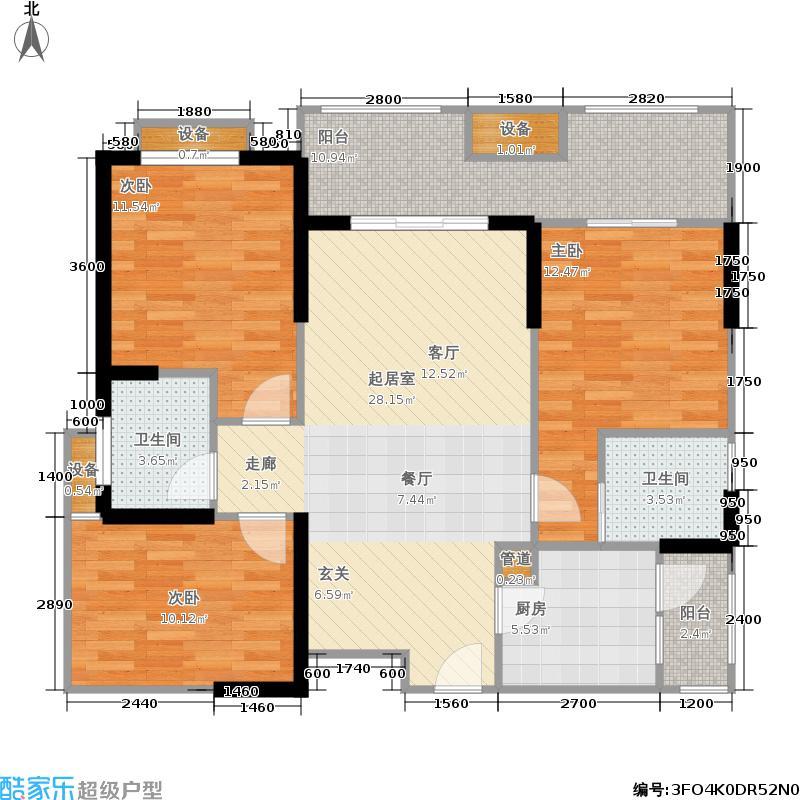 马克公馆106.00㎡二期6号楼标准层B3户型