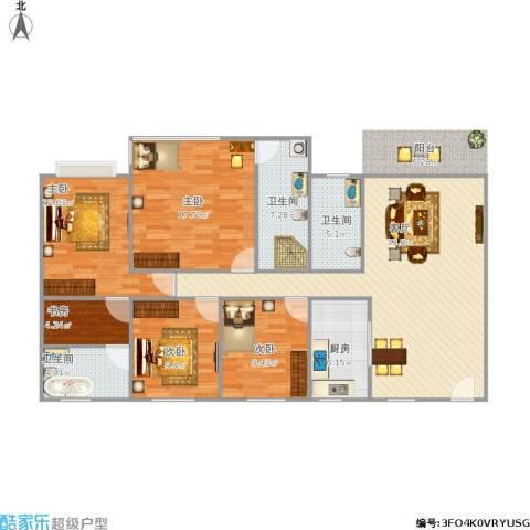 海运轩5室1厅3卫1厨149.00㎡户型图