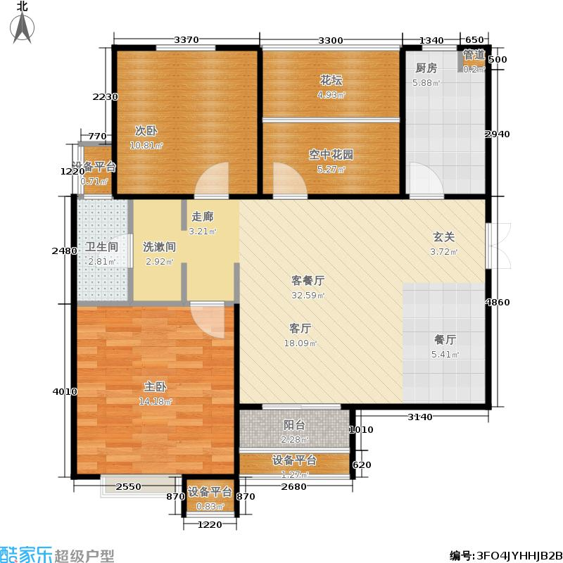 龙湖玖號院89.18㎡龙湖玖�院12#F1户型