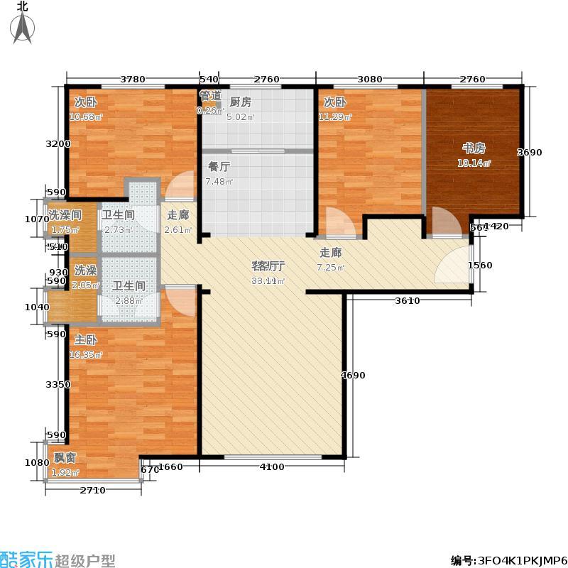 万泽·经海广场136.00㎡C户型4室2厅