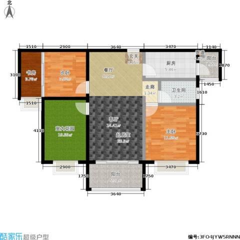 合景领峰3室0厅1卫1厨86.00㎡户型图