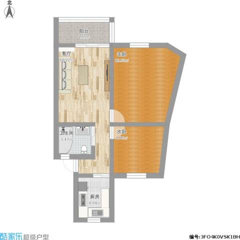 培花久远公寓2室1厅1卫1厨83.00㎡户型图