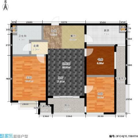 万科高新华府3室0厅1卫1厨93.00㎡户型图