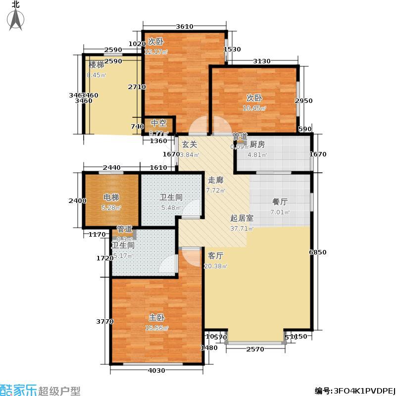 北京城建·世华龙樾120.00㎡二期5、8号楼E户型3室2厅