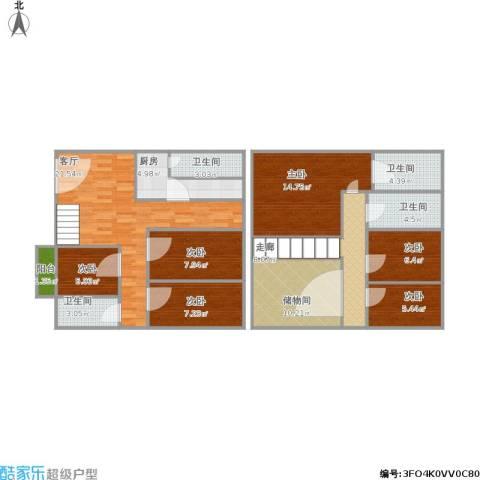银泉花园6室1厅4卫1厨149.00㎡户型图