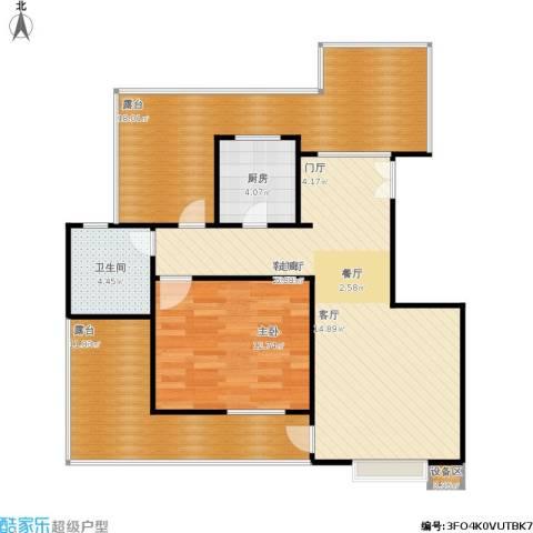 霞飞路63里弄1室1厅1卫1厨106.00㎡户型图
