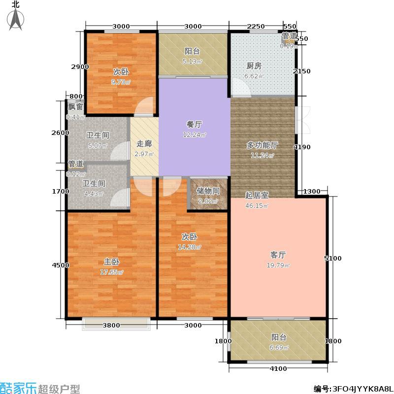 柏悦澜庭138.00㎡一期24、27幢标准层C2户型