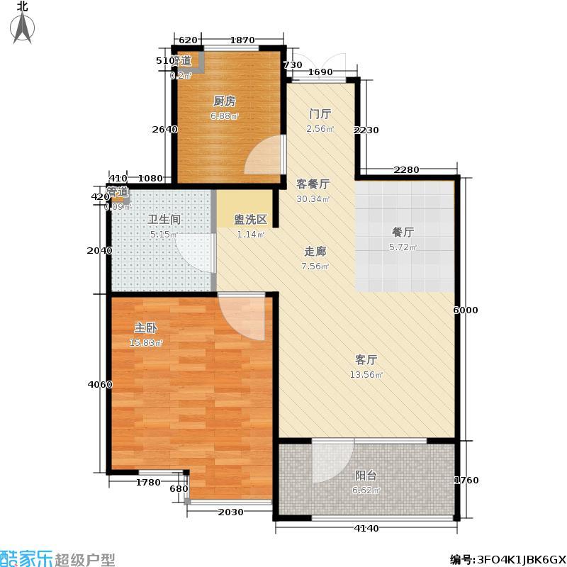 霞飞路63里弄70.82㎡3、4、5号楼首层奇数层B、E户型1室2厅