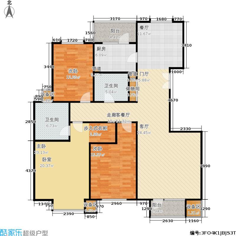 霞飞路63里弄141.45㎡3、11号楼标准层G户型3室2厅