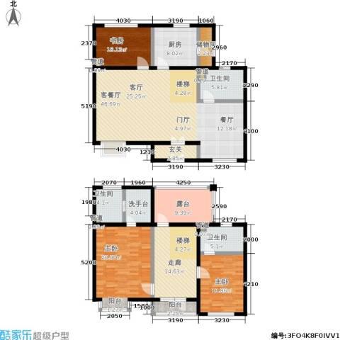 北京曜阳国际老年公寓3室1厅3卫1厨180.00㎡户型图