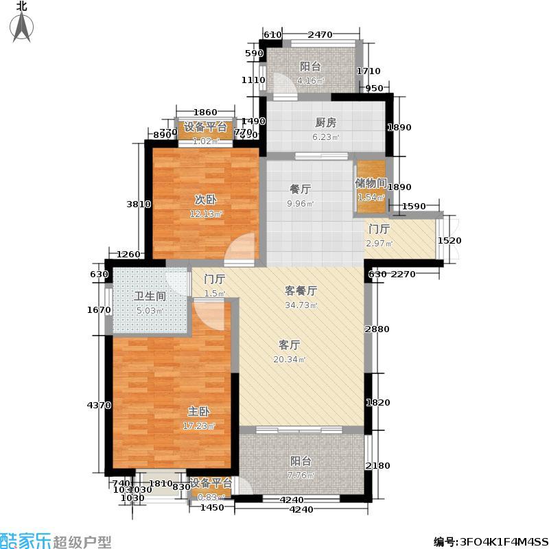 丽景嘉园-罗宾森广场104.00㎡丽景家园104m²户型