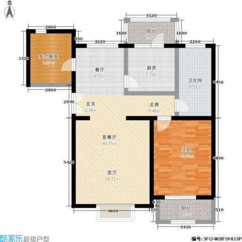 北京曜阳国际老年公寓1室1厅1卫1厨104.00㎡户型图