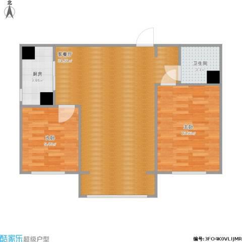 西吴御龙庭2室1厅1卫1厨89.00㎡户型图