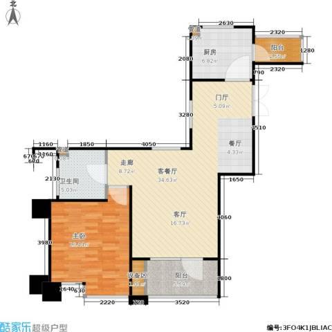 霞飞路63里弄1室1厅1卫1厨78.00㎡户型图