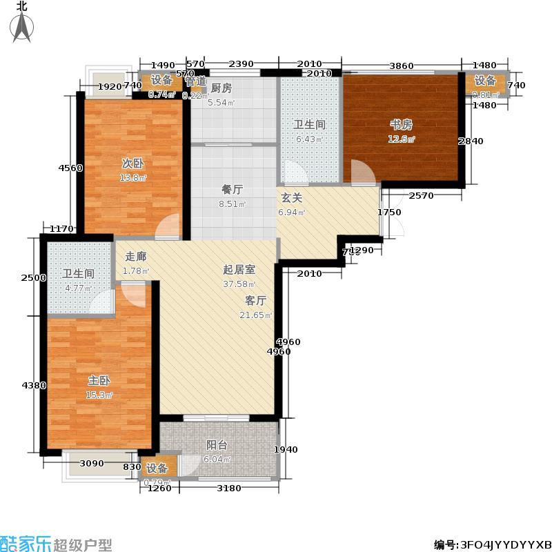 富力尚悦居116.00㎡一期1、6、7号楼标准层C户型