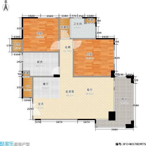 绿城桂花城2室0厅1卫1厨110.00㎡户型图