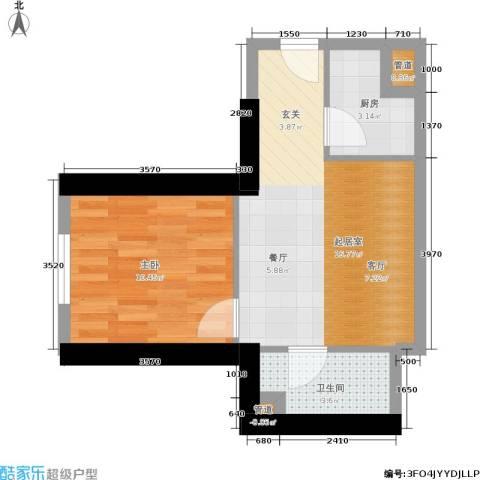 中商万豪1室0厅1卫1厨55.00㎡户型图