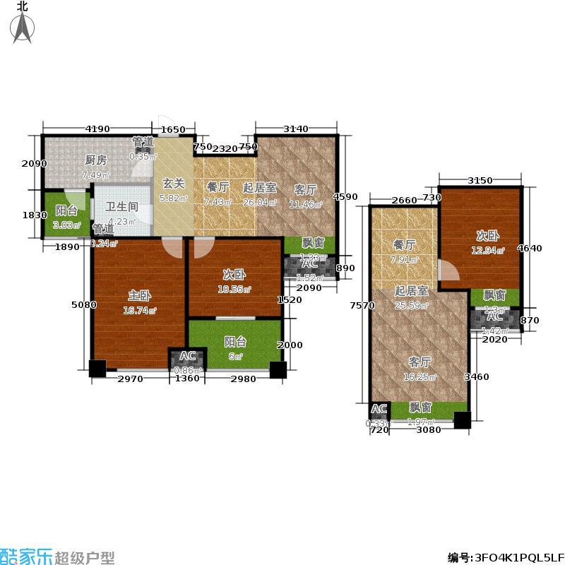 恒文星尚湾83.00㎡星尚湾D1/位于26、27#户型2室2厅