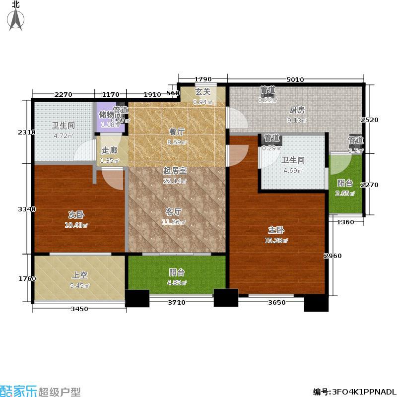 紫竹半岛88.00㎡E户型2室2厅