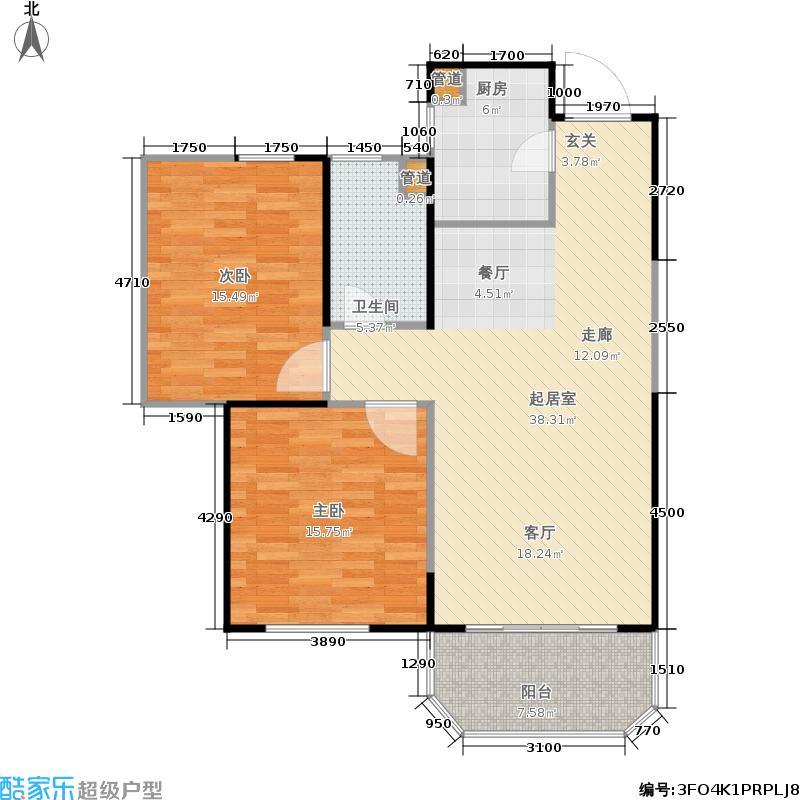 尚汇豪庭95.00㎡G户型2室2厅