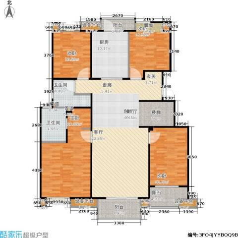 万科金色半山4室1厅2卫1厨150.00㎡户型图