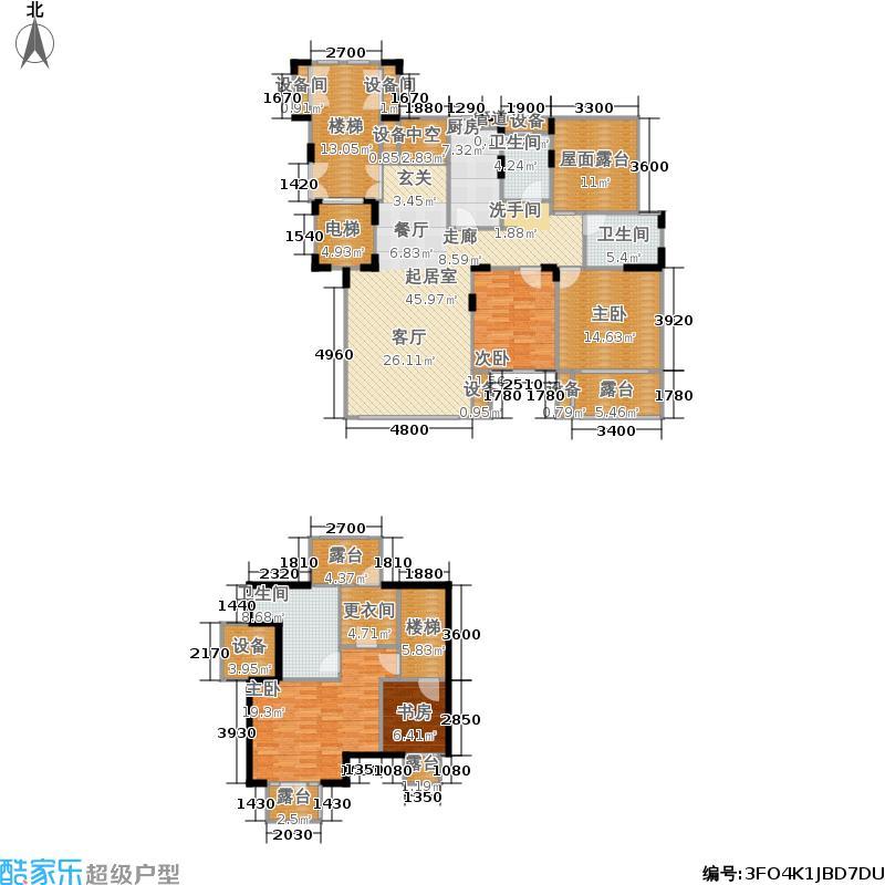 天山城113.46㎡电梯洋房顶层及阁楼户型2室2厅