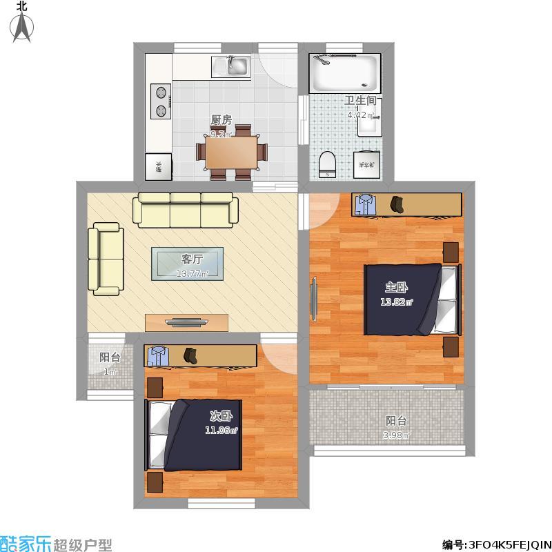 上虹新村两室一厅