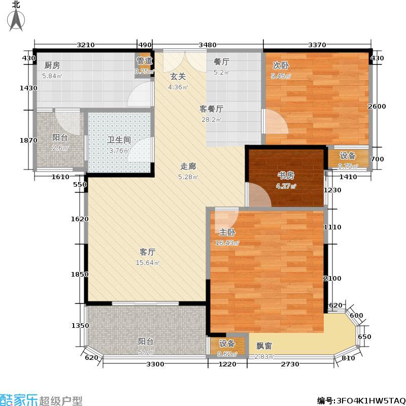 五矿万境水岸89.02㎡8栋6号房6栋9号房户型3室2厅