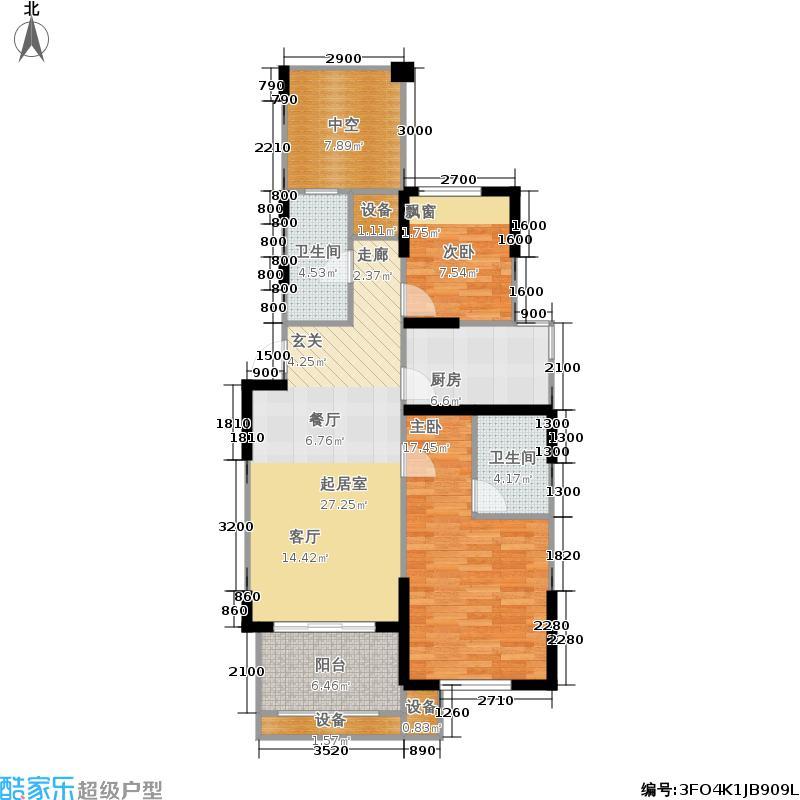 天山城104.60㎡高层F-03户型2室2厅