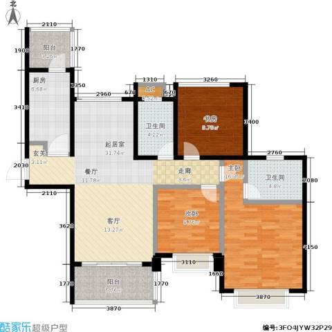 合景峰汇国际3室0厅2卫1厨105.00㎡户型图