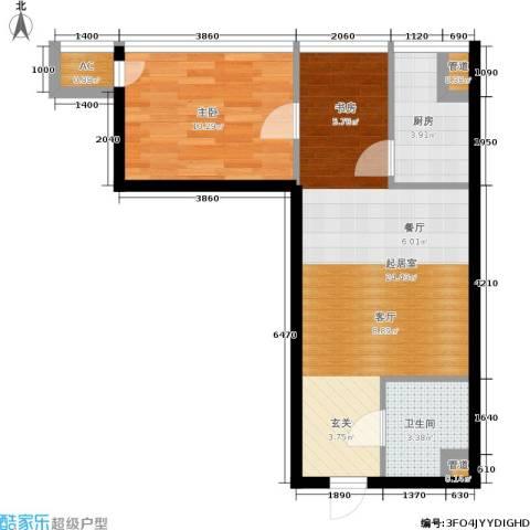 中商万豪1室0厅1卫1厨54.00㎡户型图