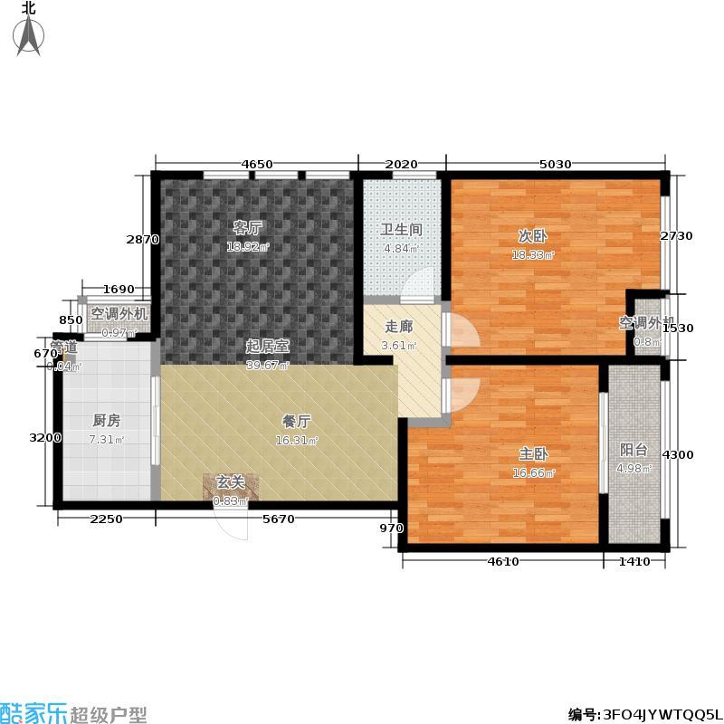 华港世纪城102.00㎡华港・世纪城A座、B座标准层A1户型