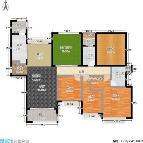 合景领峰3室0厅2卫1厨138.00㎡户型图
