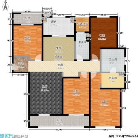 万科御玲珑4室0厅2卫1厨190.00㎡户型图