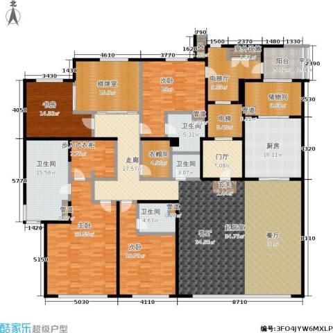 万科玲珑湾天萃4室0厅4卫1厨305.00㎡户型图