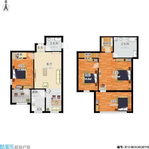 百子湾家园4室1厅2卫1厨195.00㎡户型图