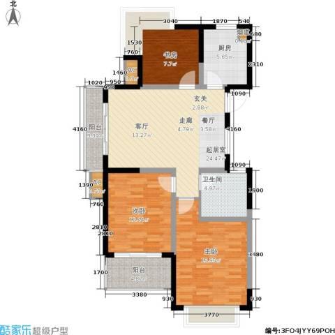 瑞景国际3室0厅1卫1厨92.00㎡户型图