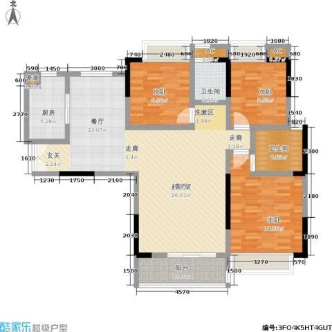 中登城市花园3室0厅2卫1厨138.00㎡户型图