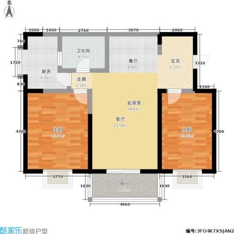 自由自宅2室0厅1卫1厨91.00㎡户型图