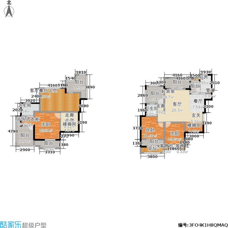 中铁山水时光119.02㎡一期洋房E2栋标准层N10-11户型