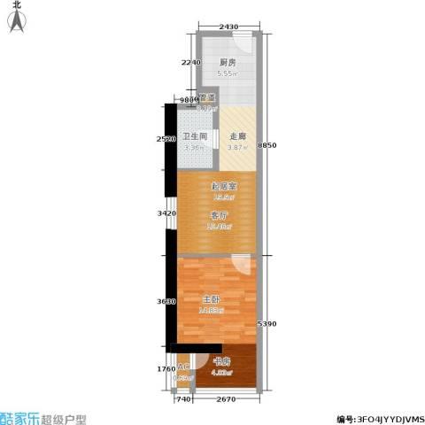 中商万豪1室0厅1卫0厨64.00㎡户型图