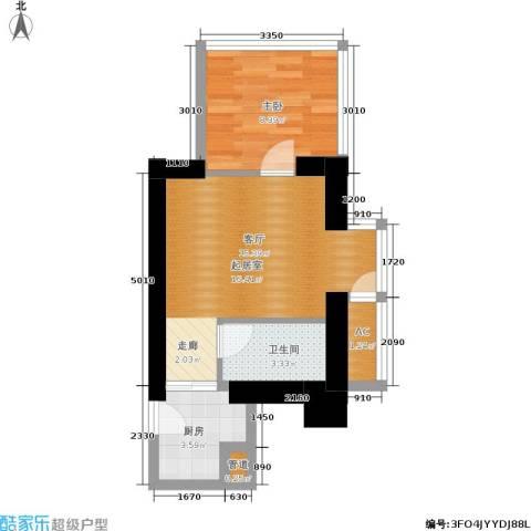 中商万豪1室0厅1卫1厨58.00㎡户型图
