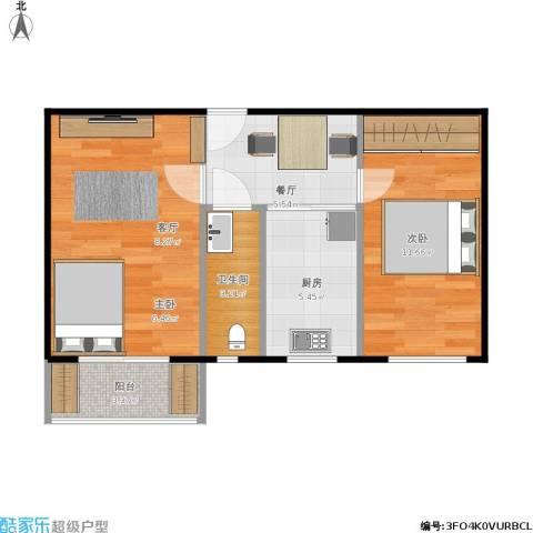 望花路西里2室1厅1卫1厨60.00㎡户型图