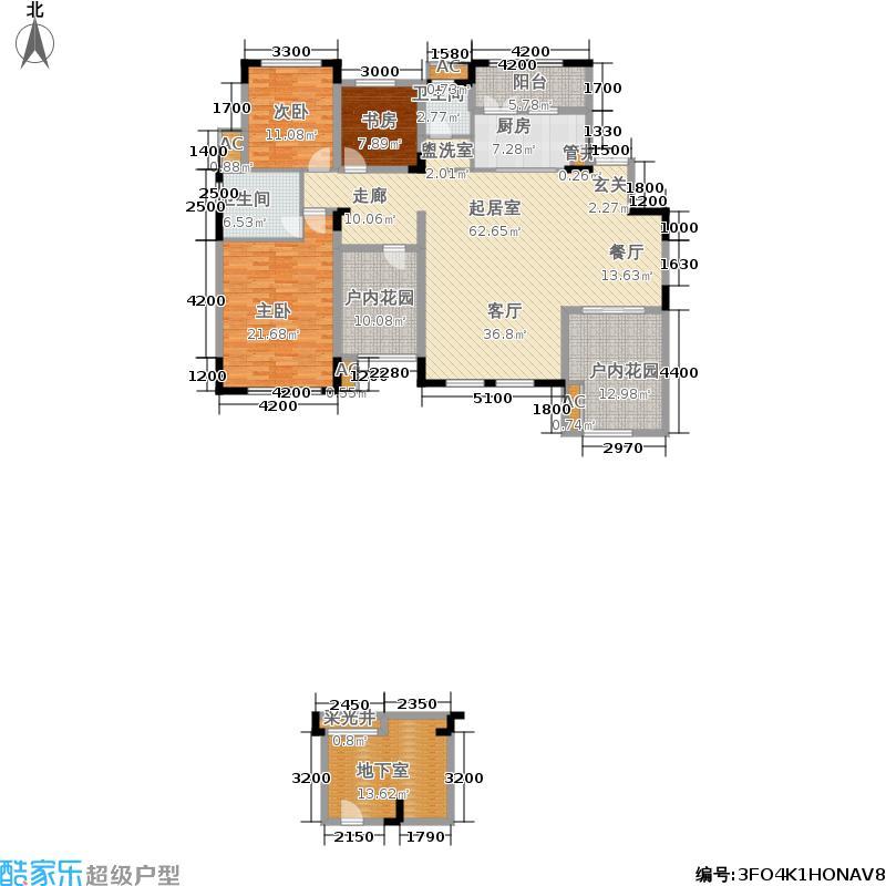 江河中央洋房163.32㎡A-190三楼户型