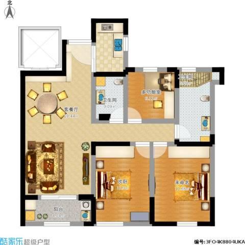 信远朗庭1室1厅2卫1厨110.00㎡户型图