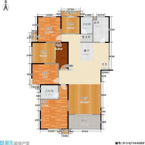 宏江中央广场4室1厅2卫1厨166.00㎡户型图