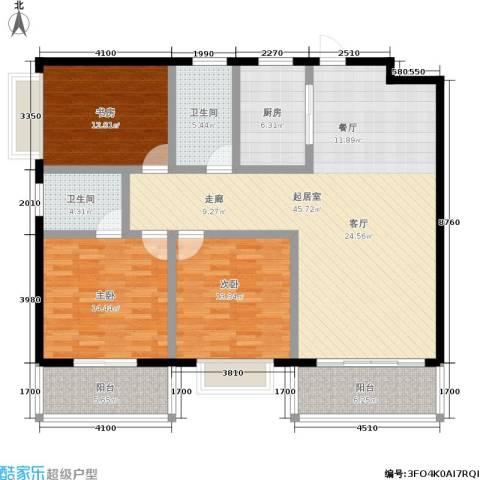 朱雀乐府3室0厅2卫1厨130.00㎡户型图
